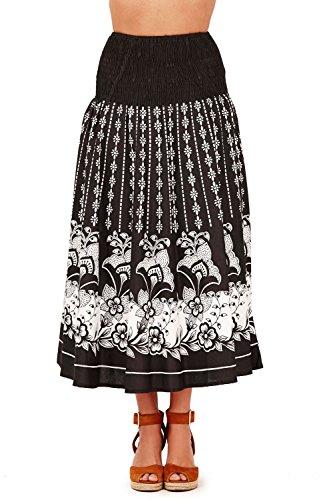 Damen Pistachio Punkte Blumenmuster 2 In 1 Kleid Oder Rock Damen ...