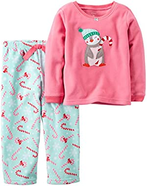 Carters 2-Piece Christmas Penguin Fleece Pajama Set 12M