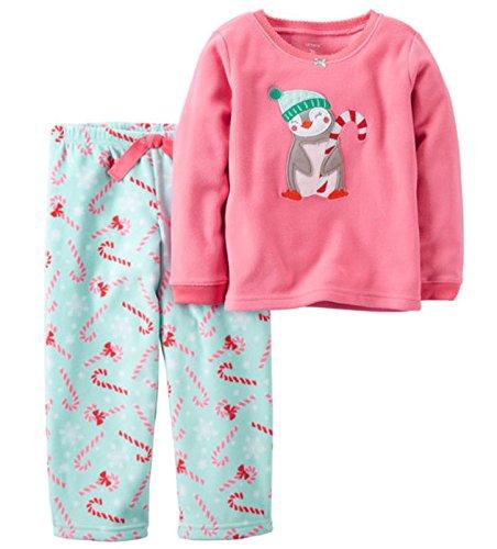 Carters 2-Piece Christmas Penguin Fleece Pajama Set (Girls Carters 2 Piece Pajamas)