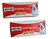 Milk Bone Brushing Chews Daily Dental Treats for Small/Medium Dogs 25-49 Lbs, 7-Count 5.5-oz. Box (Pack of 2) For Sale