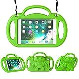 LEDNICEKER Kids Case for iPad Mini 1 2 3 4 5 - Light Weight Shockproof Handle Friendly Kids Case with Built-in Kickstand & Shoulder Strap for iPad Mini, Mini 5 (2019), Mini 4, Mini 3, Mini 2 - Green