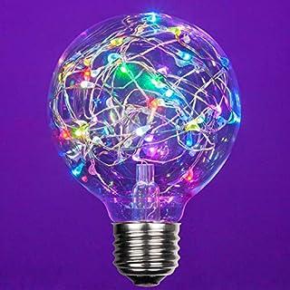 LEDimagine Fairy String Light Bulb Fairy Lights, LED Globe Fairy Light Pendant Bulb, Globe Fairy LED Light (RGB Multicolor Color Changing, G80 Globe Light Bulb, E26 Base)