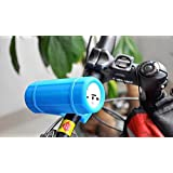 SNEED-Bike Mount Bluetooth Speaker Wireless Cycling Sport Outdoor Bicycle Riding Music Speakers Black with 12 Hour Playtime for Outdoors , blue