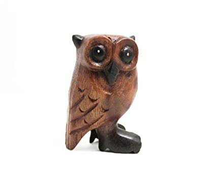 Delicieux Small Wooden Owl 4u0026quot; Tall, Home U0026 Office Decor, Hand Carved ...