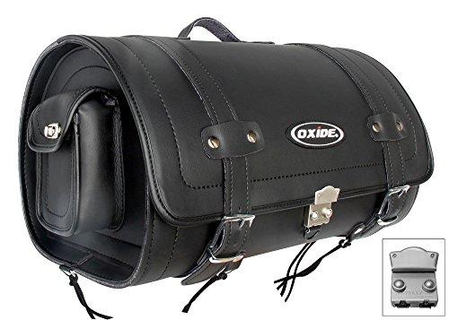Oxide 40L Premium Tek Leather Helmet Carrier, Saddle Bag, Travel Roll