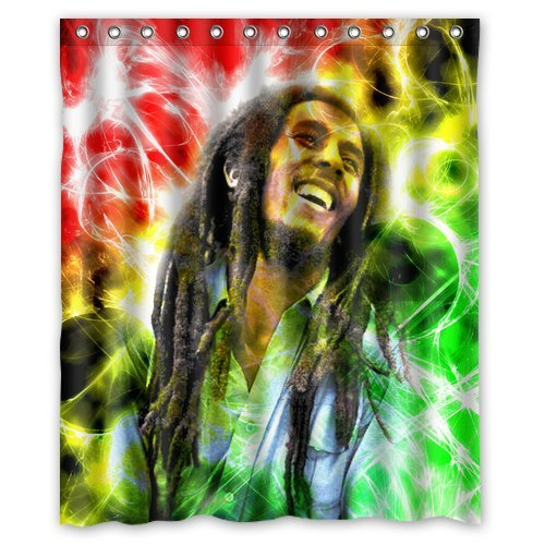 New Fashion Famous Singer Bob Marley Mildew-proof Polyester