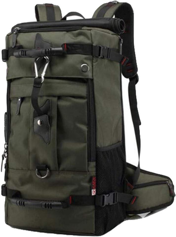 JSHFD Backpack Oxford Cloth Bag Outdoor Backpack Multi-Function Hiking Bag 55L