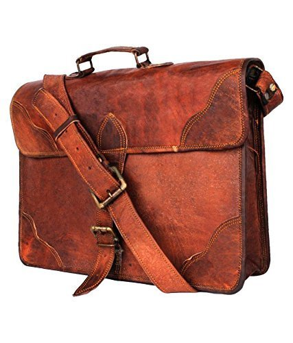 Amazon.com  Leather Messenger Bags for Men Women Mens Briefcase Laptop Bag  Best Computer Shoulder Satchel School Distressed Bag (15 inch)  montexoo 01507102ccf11