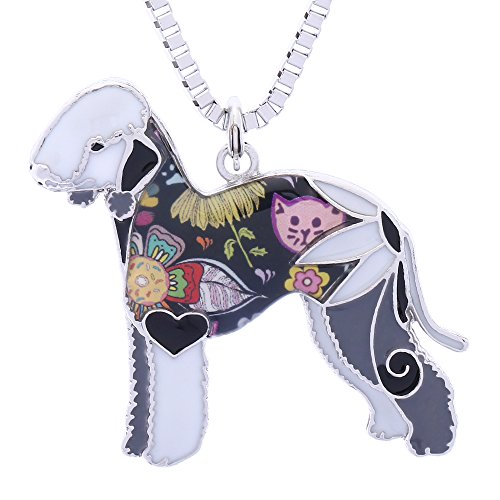 Luckeyui Bedlington Terrier Gifts for Women Personalized Pets Dog Necklaces & Pendants Jewelry ()