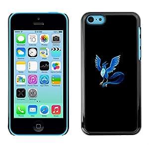 // PHONE CASE GIFT // Duro Estuche protector PC Cáscara Plástico Carcasa Funda Hard Protective Case for iPhone 5C / Articuno P0kemon /