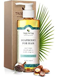 Gentle, Hair Growth Shampoo. The Only pH 5.5 Balanced Shampoo for Thinning Hair and Hair Loss – Hair Regrowth Treatment for Women and Men, with Organic Wild Soapberries, 8.5 oz—by Tree To Tub
