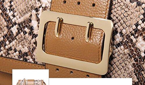 brown Casual Main Sac Imperméable Messager Voyage Sac Multifonctionnel à Sac Bandoulière Cuir à Véritable De qw6Yt6I