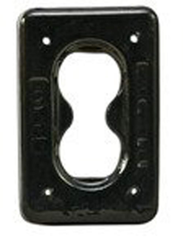 Plasti-Bond PBDS23G PVC Coated Aluminum Duplex Receptacle, 1-Gang