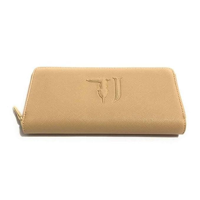 8dedc87c5e Trussardi Jeans PORTAFOGLIO DONNA ZIP AROUND MOD. ISCHIA ECOPELLE ECRÙ  AS19TJ02: Amazon.it: Abbigliamento