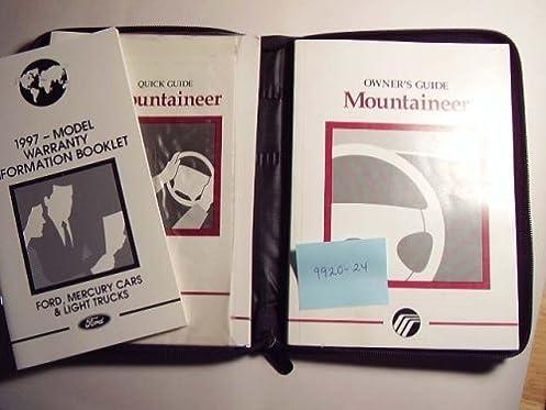 1997 mercury mountaineer owners manual mercury amazon com books rh amazon com 1997 mercury mountaineer owners manual pdf Mercury Mountaineer 1997 Flasher Relay Location