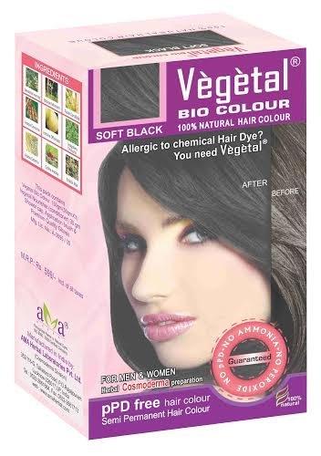 Vegetal Bio Colour - Soft Black 50gm, Pack of 3 by Vegetal
