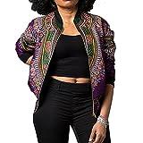 Clearance Deals Women Coats BeautyVan Women Casual Winter African Print Pockets Workout Short Jacket Outwear