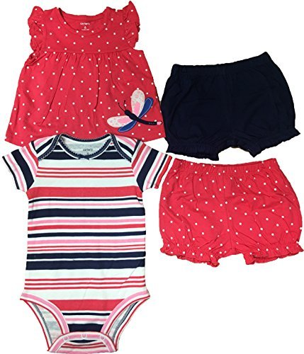 Carters Baby Girls 4 Piece Diaper Cover Set 6 (4 Piece Diaper)