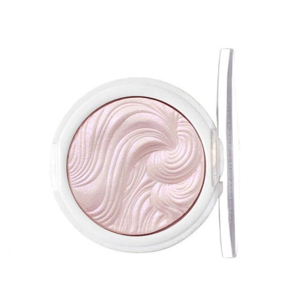 Ourhomer Waterproof Long Lasting Professional Makeup Face Powder Single Colors Bronzer Highlighter Powder Palette (B)