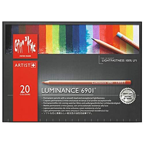 Lápis de Cor Profissional Caran d'Ache Luminance 20 Cores