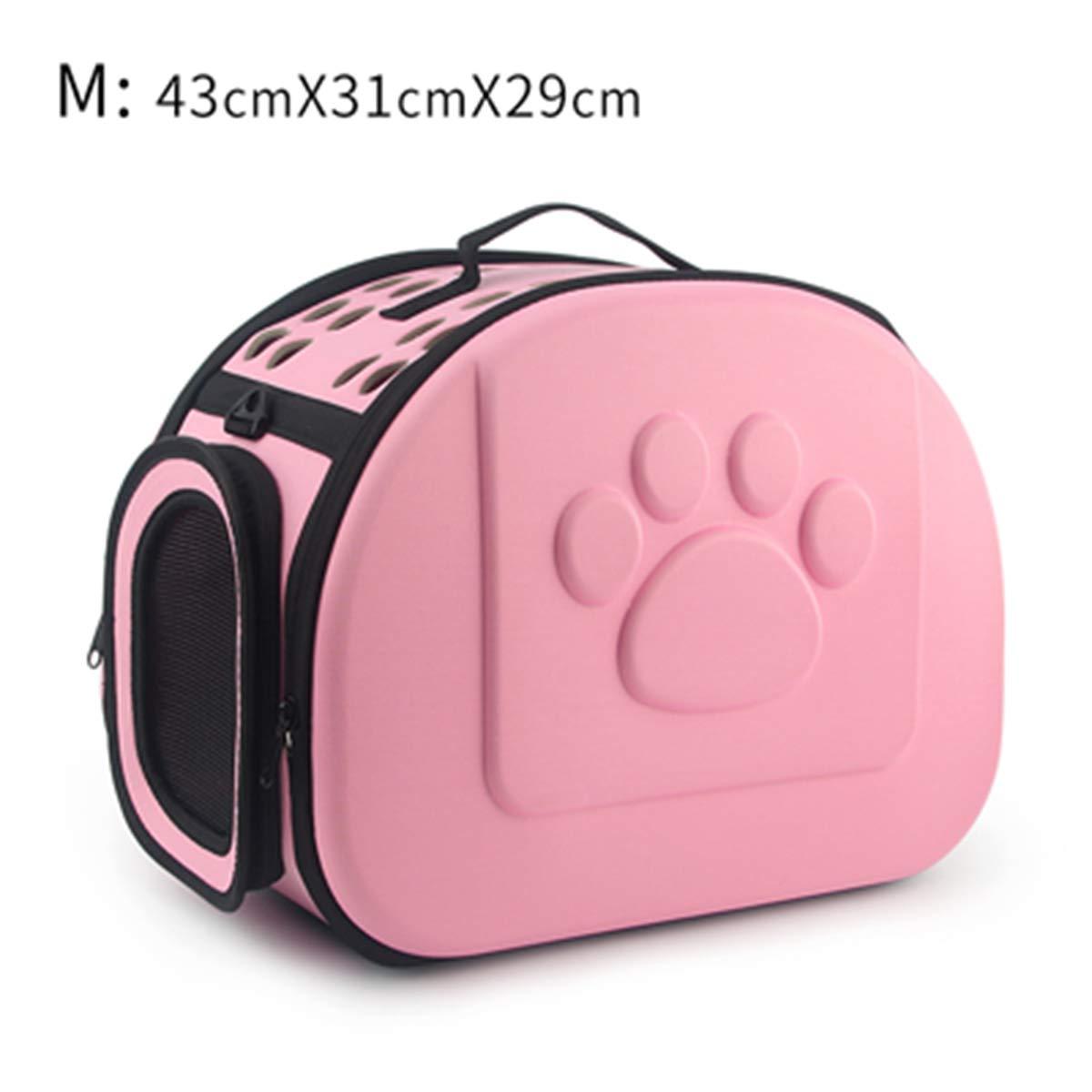 Pink 43x31x29cm M As PicturePETFDH Pure color Pet Carrier Bag Portable Outdoor Solid color Cat Foldable Dog Travel Pets Bag Puppy Carrying Shoulder Bags S M L L bluee 45x32x38cm
