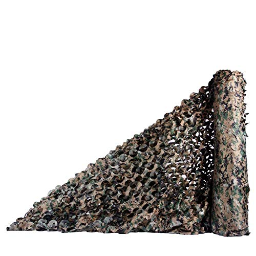 LIYU-Giardino Copertura Sunblock Shade Cloth Camouflage Net Military Hunting Disguise Lightweight Nets Woodland Shooting Shading Army Themed Decoration (Size : 6x6m)
