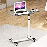 XUEXUE Tempered Glass Laptop Desk Bed with Removable liftable Bedside with Lazy Table Stopper Ledge Computer Work Station Student Dorm Home Office