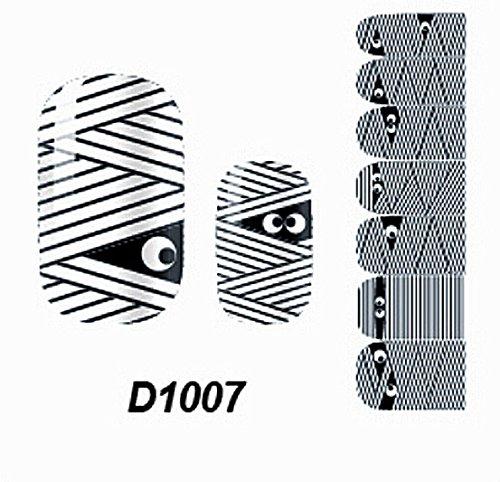 1 Pcs Splendid Polish Tips Self Fashion Multi Mix Nail Art Stickers Style Code (Multi Tubing Adapter)