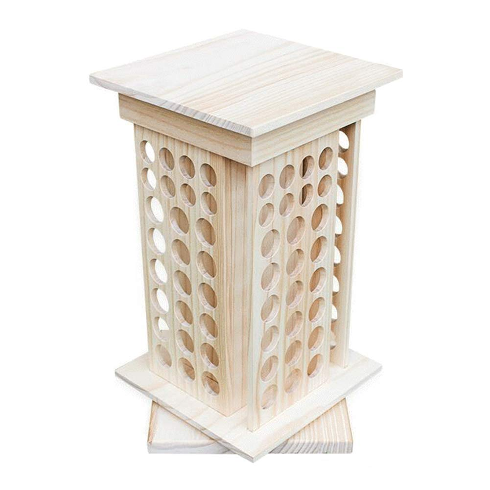 Echaprey Wooden Essential Oil Box Display Rack 8 Tier Rotating Essential Oil Bottle Holder for Holding Diffuser