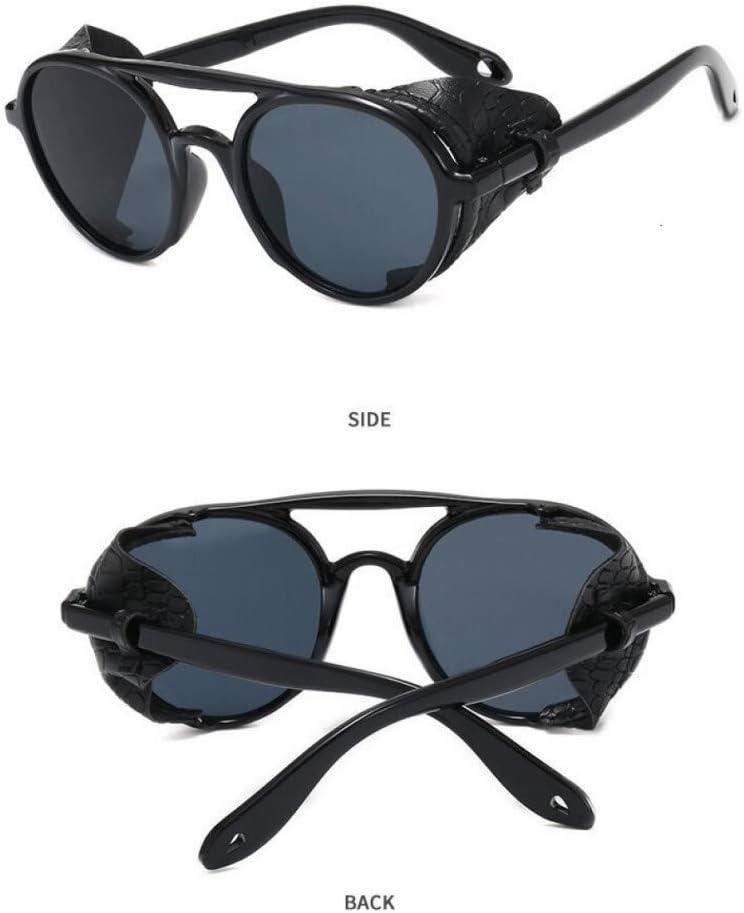 KANGDE Gafas de Sol ovales Retro Hombres Mujeres Gafas de protección Lateral Marco de Metal Lente de Espejo Gafas de Sol