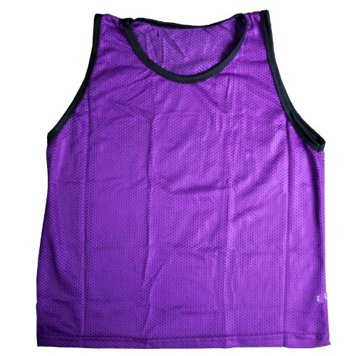 BlueDot Trading Youth Sports Pinnie Scrimmage Training Vest, Purple, 1 Pack]()