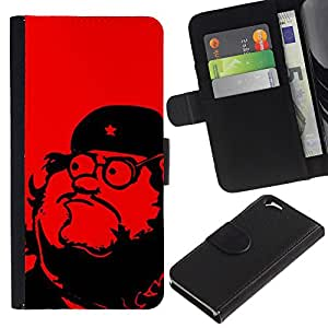A-type Arte & diseño plástico duro Fundas Cover Cubre Hard Case Cover para Samsung Galaxy S4 (Leader Communism Red Star)