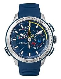Timex Intelligent Quartz TW2P73900 Mens Yacht Racer Chronograph Blue Silicone Strap Watch