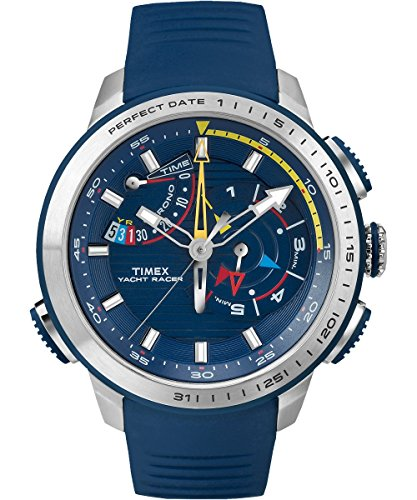 (Timex Yacht Racer Blue Dial Silicone Strap Men's Watch TW2P73900)