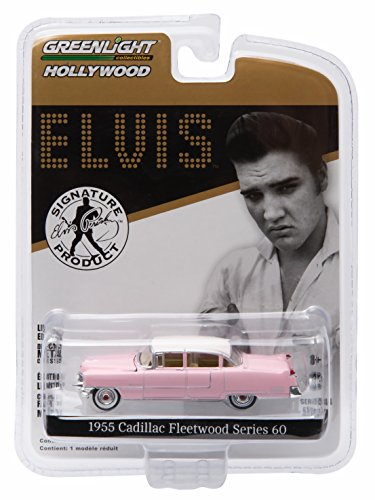 ELVIS PRESLEY'S 1955 PINK CADILLAC FLEETWOOD SERIES 60 * GL Hollywood Series 14 * Greenlight Collectibles 1:64 Scale 2016 Die-Cast Vehicle (Elvis Track)