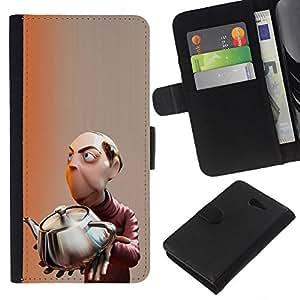 Mastermind Científico Niños Infantiles- la tarjeta de Crédito Slots PU Funda de cuero Monedero caso cubierta de piel Para Sony Xperia M2