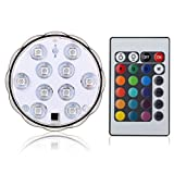 buy Lyyes Submersible LED Lights Underwater Led Lights Waterproof Colorful Pond LED Lights for Hot Tub,Aquarium, Vase Base, Pond, Swimming Pool (1pack) now, new 2020-2019 bestseller, review and Photo, best price $6.99