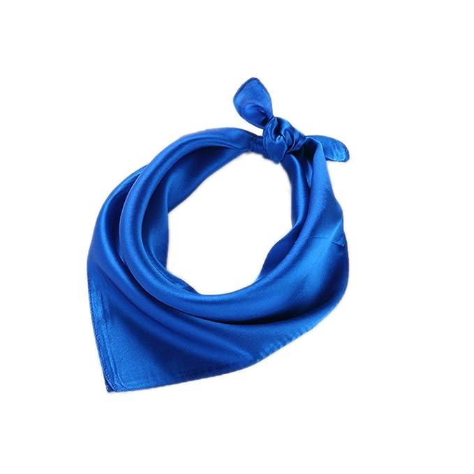 Fête des Mères Foulard Carré Blanc Claire 52 52cm en Soie Uni  Amazon.fr   Vêtements et accessoires e3277c87874