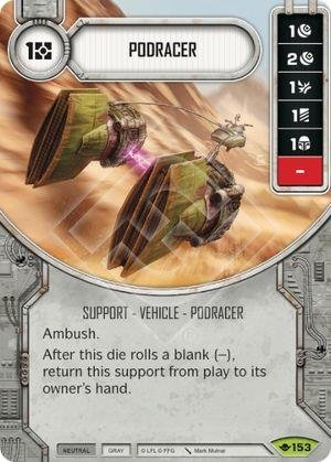 Amazon com: Star Wars Destiny: Way of the Force - Podracer - Rare