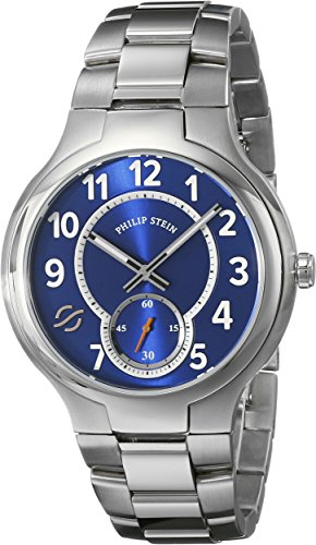 Philip Stein Men's 42-SBL-SS Analog Display Japanese Quartz Silver Watch