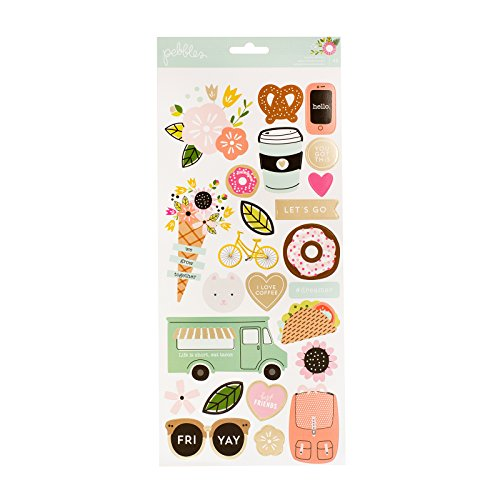 American Crafts Pebbles Girl Squad 6 x 12 inch Sheet Gold Foil - 12x12 Pebbles Sheet