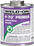 Weld-On 10221 P-70 Purple PVC/CPVC Primer, Low-VOC, 1 gallon Can with Screw-on Cap, Metal Can