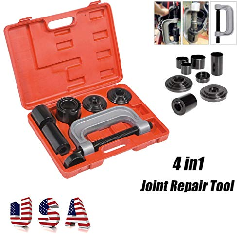 Nivalkid Fast Arrival 4 In 1 Ball Joint Service Tool Set For 2WD&4WD Press-fit Removal Installation Full Car Hem Arm Ball Extractor (US) (Black)