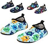 monster feet socks - Yidomto Kids Water Shoes, Quick Dry Barefoot Socks for Toddler Boys & Girls on Beach Swim Pool(Blue/Monster-22/23)