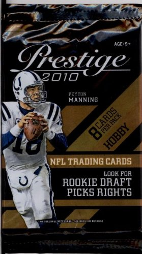 1 (One) Pack of 2010 Playoff Prestige Football Cards Hobby Pack (8 Cards/Pack)