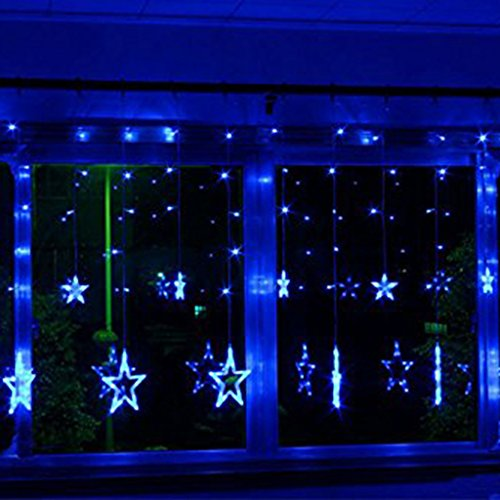 String Lights Big W : Excelvan 138 LEDs 2m/6.6ft LED Star Curtain String Light( 6 Big 6 Small),8 Flashing Modes with ...