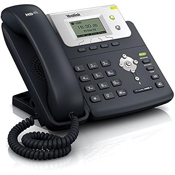 Yealink T21E2 - Teléfono VOIP, Color Negro y Plata: Yealink-Telefonia: Amazon.es: Electrónica