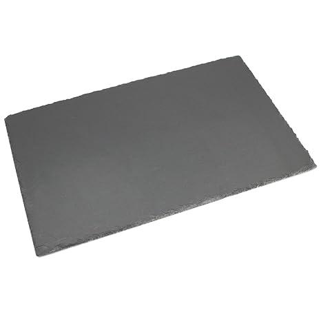 com-four® XL Pizarra de Pizarra Hecha de Pizarra Natural como Posavasos, Set de Lugar o Plato de bufé, Aproximadamente 45 x 30 cm