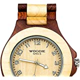 Handmade Mens Solid Wood Watch Made with 100% Natural Maple Wood & Red Sandalwood