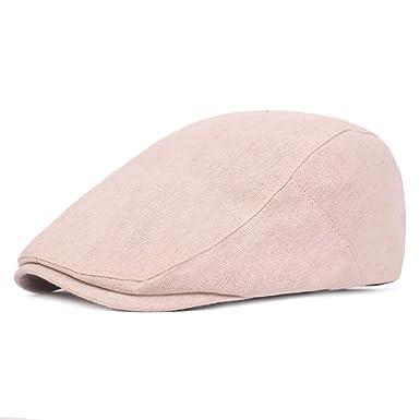 2ff42360 RICHTOER Men Simple Flat Cabbie Newsboy Ivy Hat Sun Beret Cap Duckbill  Driving Hat (Beige): Amazon.co.uk: Clothing